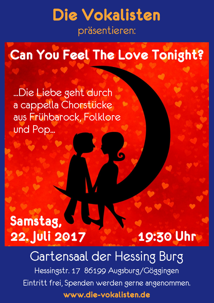 Plakat Die Vokalisten Can You Feel The Love Tonight 2017